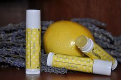 Lavender and Lemonade Natural Lip Balm by NaturallyGlow on Etsy