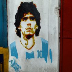 """Buenos Aires: """"Images of Diego Maradona everywhere ...winner of The Goal of the Century!"""""""