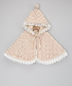 Take a look at this Beige Minky Swirl Reversible Cape - Infant, Toddler & Girls on zulily today! Little Girl Dresses, Little Girls, Toddler Girls, Infant Toddler, Toddler Poncho, Baby Girls, Baby Coat, Princess Outfits, Polka Dot Fabric