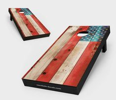 Distressed America Flag Cornhole Set Cornhole Decals, Cornhole Set, Cornhole Boards, Cornhole Designs, Ready To Play, Flag, Stripes, Stars, Plywood