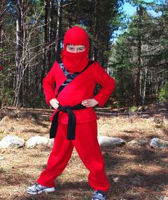 Red Black or Blue Ninja costume 100 cotton by CatherineSoucy, $90.00