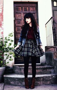New Moda Hipster Mujer Outfits Clothes Ideas Fall Fashion Outfits, Mode Outfits, Grunge Outfits, Look Fashion, 90s Fashion, 90s Grunge, Preppy Grunge, Grunge Style, Trendy Fashion