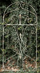 This is a nice large and wide trellis to hold up your aggressive flowers and vines. Measures 77 before staking 70 after staking X wide. Garden Structures, Outdoor Structures, Wrought Iron Trellis, Garden Trellis, Patio Design, Vines, Pergola, Landscape, Flowers