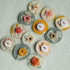 Paper, button, felt = pretty embellishments