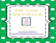 freebie... St. Patty's Clover Cards by 10s 0-100