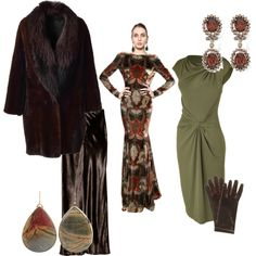 SA SD set for the opera by inaglassforest on Polyvore featuring Michael Kors, Etro, REVILLON, T By Alexander Wang, HEATHER BENJAMIN, Heidi Daus and Forzieri