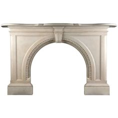 Very Grand Early Victorian Arched Fireplace ($19,500) ❤ liked on Polyvore featuring home, home decor, fireplace accessories, fireplace, furniture, fire, fire place, white marble statue, victorian home decor and white home decor