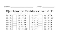 Hojas de trabajo con Ejercicios de División de una cifra. ¿Cómo aprendo a dividir? Primero tienes que memorizar las divisiones. Montessori, School, Alan Walker, Tips, Reyes, Lifestyle, Math, Halloween, Carnival