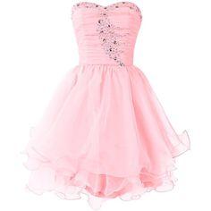 Dresstells Women's Short Prom Dresses Organza Homecoming Dress ($124) ❤ liked on Polyvore