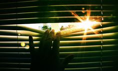 Peeking out the window through the blinds, hello sunshine! Photo is: Nuke! by Jaako, via Flickr
