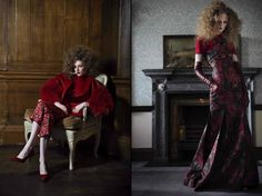 // IN ROUGE //  Photographer: Agata Stoinska //  Stylist: Tanya Grimson // Model: Briony (from distinct model Management) // Hair: Trudy Hayes // Makeup: Ken Boyland // Location: Carton House    AS SEEN ON: http://www.maven46.com/editorials/in-rouge/editorial/