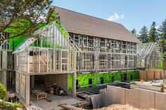 Steel studs and joists are an easy to handle, economical, non-combustible, high quality alternate to more traditional framing materials. Steel Frame House, Steel House, Vancouver, National Building, Wood Frame Construction, Building Systems, Steel Buildings, Framing Materials