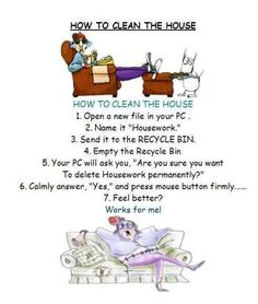 How to clean house
