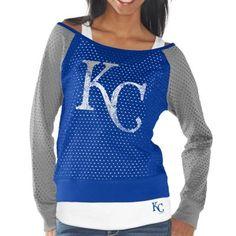 Kansas City Royals Womens Royal Blue Holy Long Sleeve T-Shirt and Tank Top