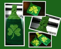 Shamrock Towel & Potholder I made.
