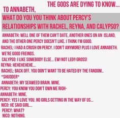 LMAO BUT ANNABETH WOULD ACTUALLY LAUGH SO HARD IF NICO WAS LIKE PERCY BAE SND OERCY WAS LIKE WHAAAAA NOW