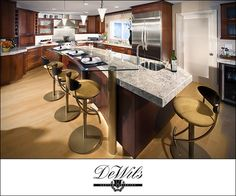 Whether for a kitchen or bathroom remodel, browse DeWils selection of custom cabinets and find the style, color, and cut that you're looking for. Rustic Kitchen Island, Wooden Kitchen, Kitchen Cabinet Styles, Kitchen Cabinets, Kitchen Cabinet Manufacturers, Contemporary Kitchen Design, Contemporary Style, Modern Bar Stools, Glass Bar