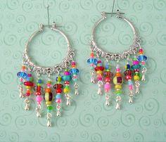 NEW  Boho Chic Hoop Earrings Bohemian Jewelry by BohoStyleMe, $28.00