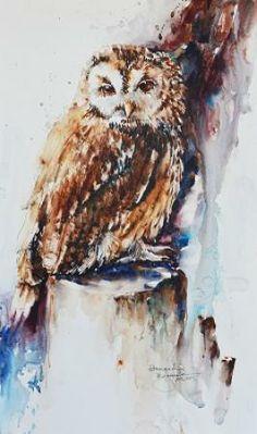 """""""Stumped"""" by Bev Jozwiak - watercolor"""