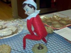 LOL!! How Hershey Kiss Christmas Cookies are made. Haha. Never the same if you saw this as a kid