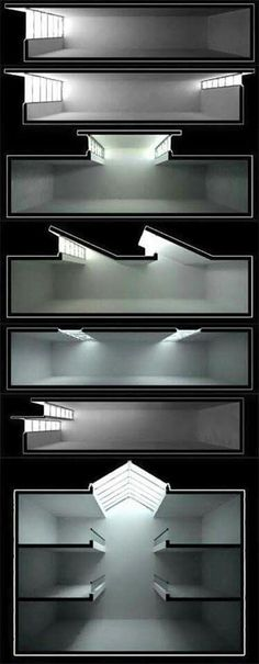 Natural Lighting Architecture 39 New Ideas Light Architecture, Architecture Drawings, Interior Architecture, Natural Architecture, Study Architecture, Architecture Diagrams, Sections Architecture, Sustainable Architecture, Sustainable Design