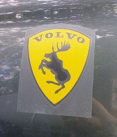 Funny Volvo Deer Logo