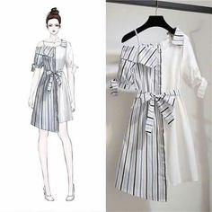 Ideas For Fashion Model Drawing Illustrations Girls Fashion Clothes, Teen Fashion Outfits, Cute Fashion, Trendy Fashion, Korean Fashion, Fashion Models, Girl Fashion, Diy Outfits, Casual Outfits
