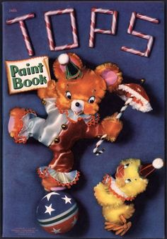 "Uncolored ""Tops Paint Book"" 3486 Merrill 1942 1801 | eBay"