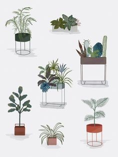 Instructions from ferm LIVING on plants in your home # Instructions Collage Architecture, Architecture People, Architecture Graphics, Architecture Drawings, Rendering Architecture, Architecture Diagrams, Architecture Visualization, Architecture Portfolio, Interior Plants