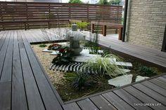 ウッドデッキの中心に坪庭を 綾瀬市H様邸 | 大洋グリーンライフのエクステリア施工例