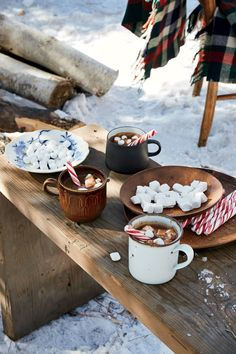 """This warming treat is the perfect accompaniment for a walk through the snow: A hint of peppermint schnapps will give everyone a little pep in their step. Think of it as more of a dessert than a beverage, as this hot chocolate is a bit of a splurge. Canned coconut milk gives it full-bodied richness and makes it an indulgence. Molly explains that the """"coconut goes really well with chocolate. And mint, too. So it really brings this hot chocolate together nicely."""" A small amount of instant…"""