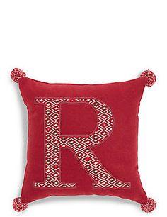 Beleuchtetes Kissen mit dem Buchstaben R Throw Pillows, Bed, Home, Kilim Pillows, Pillows & Throws, Letters, Homes, Cushions, Stream Bed