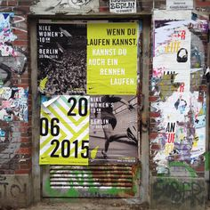 Poster covered walls in Berlin