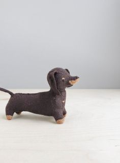 dachshund / soft sculpture dog - this little doxie is so delightful!