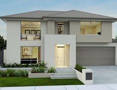 Single and Double Storey Home Designs Modern Exterior House Designs, Best Modern House Design, Dream House Exterior, Modern Architecture House, Dream Home Design, Exterior House Colors, Modern House Plans, Interior Exterior, D House
