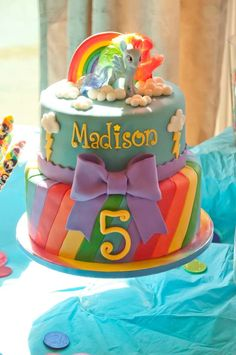 My Little Pony birthday party cake! See more party ideas at CatchMyParty.com!
