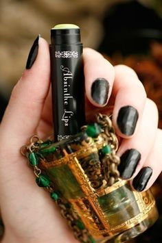 Absinthe Lips™ natural lip balm anise black by ForStrangeWomen