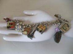 Memories of Paris charm Bracelet eiffel by beaujanglesbaubles, $19.95