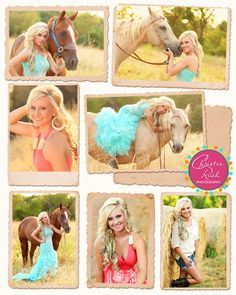 Beautiful senior girl and her horses. #senior I LOVE these pictures!!! Def. are gonna wanna use these for myself!