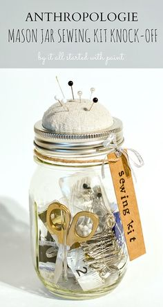 mason jar sewing kit #masonjar