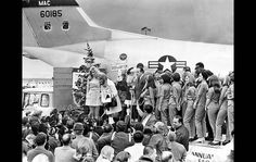 Dec. 14, 1968: Bob Hope and members of his troupe prepare to leave for Vietnam on a flight from LAX. | latimes.com