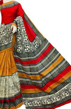 Multicolor Block Printed Bishnupuri Silk Saree Block Print Saree, Hand Painted Fabric, Marriage Decoration, Trendy Sarees, Silk Cotton Sarees, Ethnic Design, Indian Textiles, Buy Sarees Online, Ikkat Saree