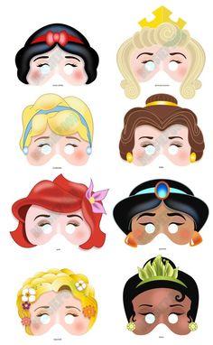 Disney princess printable mask
