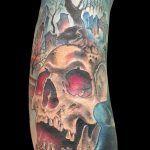 Skull, Tattoos, Tattoo Man, Realist Tattoos, Vibrant Hair Colors, Portraits, Tatuajes, Tattoo, Japanese Tattoos