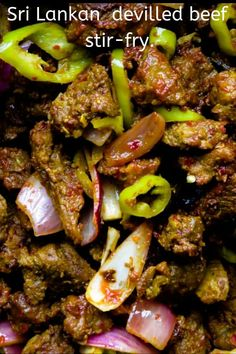 Tender beef tossed in a mix of spicy ingredients to give you this over the top hot dish. a meal in a wrap for a quick dinner. Veg Recipes, Curry Recipes, Indian Food Recipes, Asian Recipes, Cooking Recipes, Ethnic Recipes, Indian Foods, Sri Lankan Recipes, Beef Curry