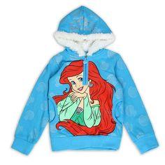 Disney Princess Ariel Little Mermaid Pullover Hoodie Sweatshirt 2T 3T 4T #Disney #Hoodie