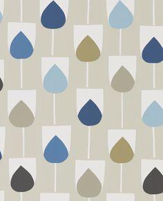 Ari's Bedroom Wallpaper Scion Sula Wallpaper, Indigo / Sapphire 111322