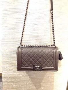 Dark grey calf le boy bag 2013 - Bergdorf reserved for me!! Chanel Le 6371496212
