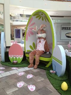 The Easter Bunny live from the Garden State Plaza.