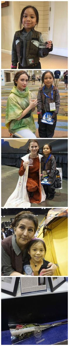 Tiny Jyn Erso Cosplayer Gave Death Star Plans To Every Leia She Met